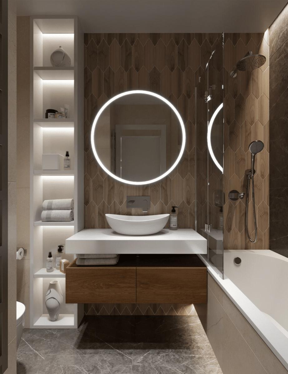 Decorar un baño pequeño con muebles a medida